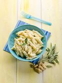 pasta with ricotta almond pesto and sage