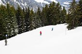 Skiing On Mountains In Portes Du Soleil Region