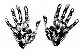 Two Black Art Hand Prints