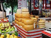 Street Weekend Market In Town Salo, Italy