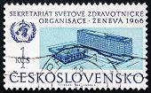Postage Stamp Czechoslovakia 1966 Who Headquarters, Geneva