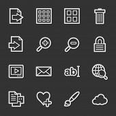 Image viewer web icons, grey set