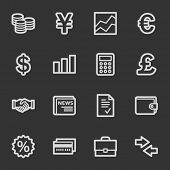 Finance web icons, grey set