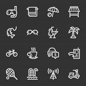 Vacation web icon set 2, grey set