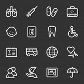Medicine web icon set 1, grey set