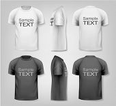 Male t-shirts. Design template. Vector.