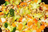 Frying Vegetables Background