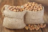 Raw Chickpea With Sack