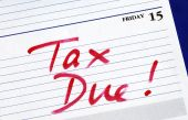 stock photo of cpa  - April 15th is the due date for the income tax returns - JPG