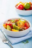 healthy salad with colorful tomatoes