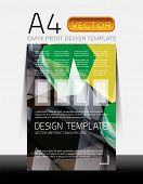 Vector A4 CMYK Modern Flyer Design