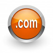 com orange glossy web icon