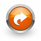 next orange glossy web icon