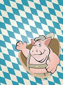 bavarian cartoon pig background