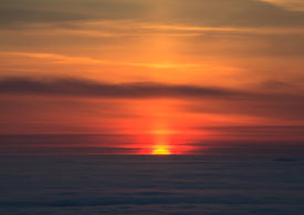 image of mountain-range  - peaks above clouds winter mountains foggy morning - JPG
