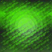 Green circle gradient plaid texture
