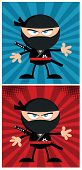 image of ninja  - Ninja Warrior Cartoon Character In Modern Flat Design - JPG