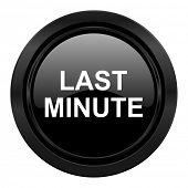 last minute black icon