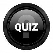 quiz black icon