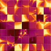 Abstract Shiny Mosaic In Fuchsia And Yellow Spectrum