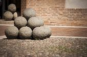 Medieval cannon balls