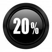 20 percent black icon sale sign