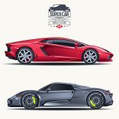 picture of speeding car  - Super car design concept - JPG