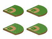 Baseball Fields 3D Perspective 1