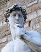 Detail Of The David Sculpture In Florence