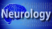 stock photo of neurology  - modern blue web brain neurology background desktop wallpaper - JPG