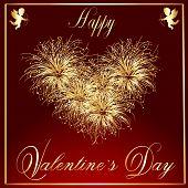 Valentine's-Maroon & Gold Fire Works 2