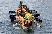 Chinese dragon boat race