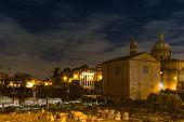 Forum Romanum At Night
