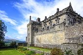 image of castle  - Stirling Castle located in Stirling is one of the largest and most important castles both historically and architecturally in Scotland - JPG