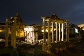 Temples And Arches At Night