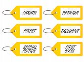 Luxury Tags 2 Yellow