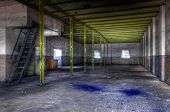 Old And Abandoned Paint Factory