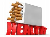 Cigarette Pack and Health (clipping path included)