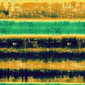 Dirty and weathered old textured background. With different color patterns: blue; yellow (beige); brown; green