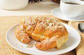 Custard Filled Almond Croissant