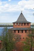 Ivanovskaya Tower Of The Ancient Kremlin In Nizhny Novgorod. Russia