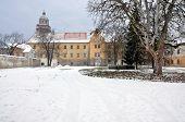 old castle in winter, Moravsky Krumlov, Czech Republic, Europe