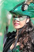 Masked Woman During The Carnival Of Venice