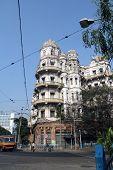 KOLKATA, INDIA - NOV 25: Esplanade mansions built during the British colonial era when Kolkata was the capital of British India on Nov 25, 2012 in Kolkata, India.