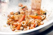 stock photo of lo mein  - seafood noodles - JPG