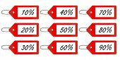 Discount Tags 1 Red