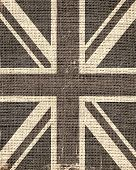Grunge Great Britain Flag Burlap Rustic Jute