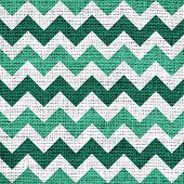 stock photo of zigzag  - Closeup burlap jute canvas vintage chevron zigzag textured background - JPG