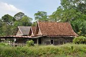 Old Wood Barrack Country Thailand