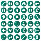 stock photo of hospital  - vector medical icon illustration - JPG